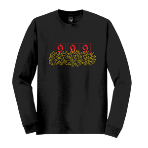 CAUTION; FLAMMABLE LONG SLEEVE - BLACK