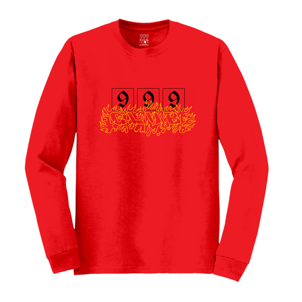 CAUTION; FLAMMABLE LONG SLEEVE - RED