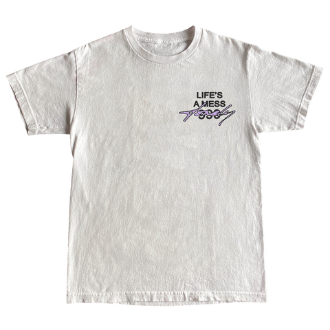 (100% Proceeds Donated) Juice WRLD X Halsey Life's A Mess Tee in White + Digital Album - JuiceWrld