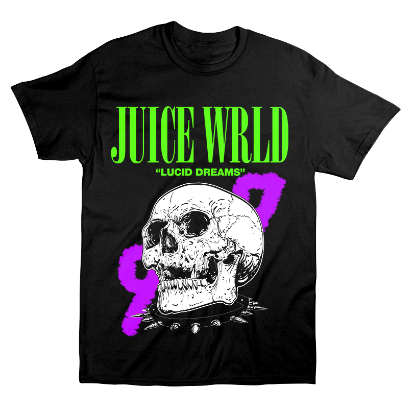 JUICE WRLD LUCID DREAMS 999 SKULL TEE - BLACK - 999 Club
