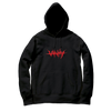 NO VANITY EMBROIDERED HOODIE - BLACK - JuiceWrld