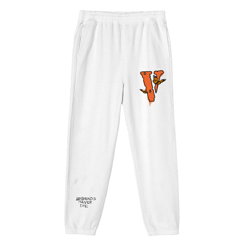Juice WRLD X VLONE Sweatpants in White + Digital Album