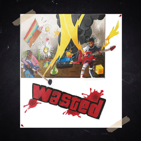 "JUICE WRLD ""WASTED"" POSTER - 999 Club"