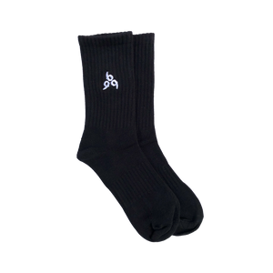 999 Embroidered Socks in Black
