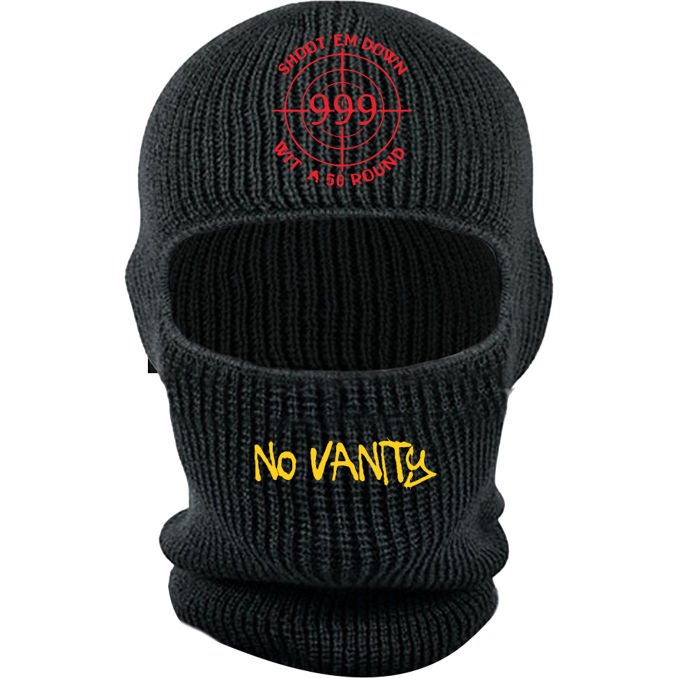 LIMITED EDITION ARMED & DANGEROUS SKI MASK - BLACK