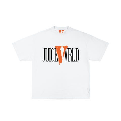 Juice WRLD X VLONE Tee in White + Digital Album - JuiceWrld