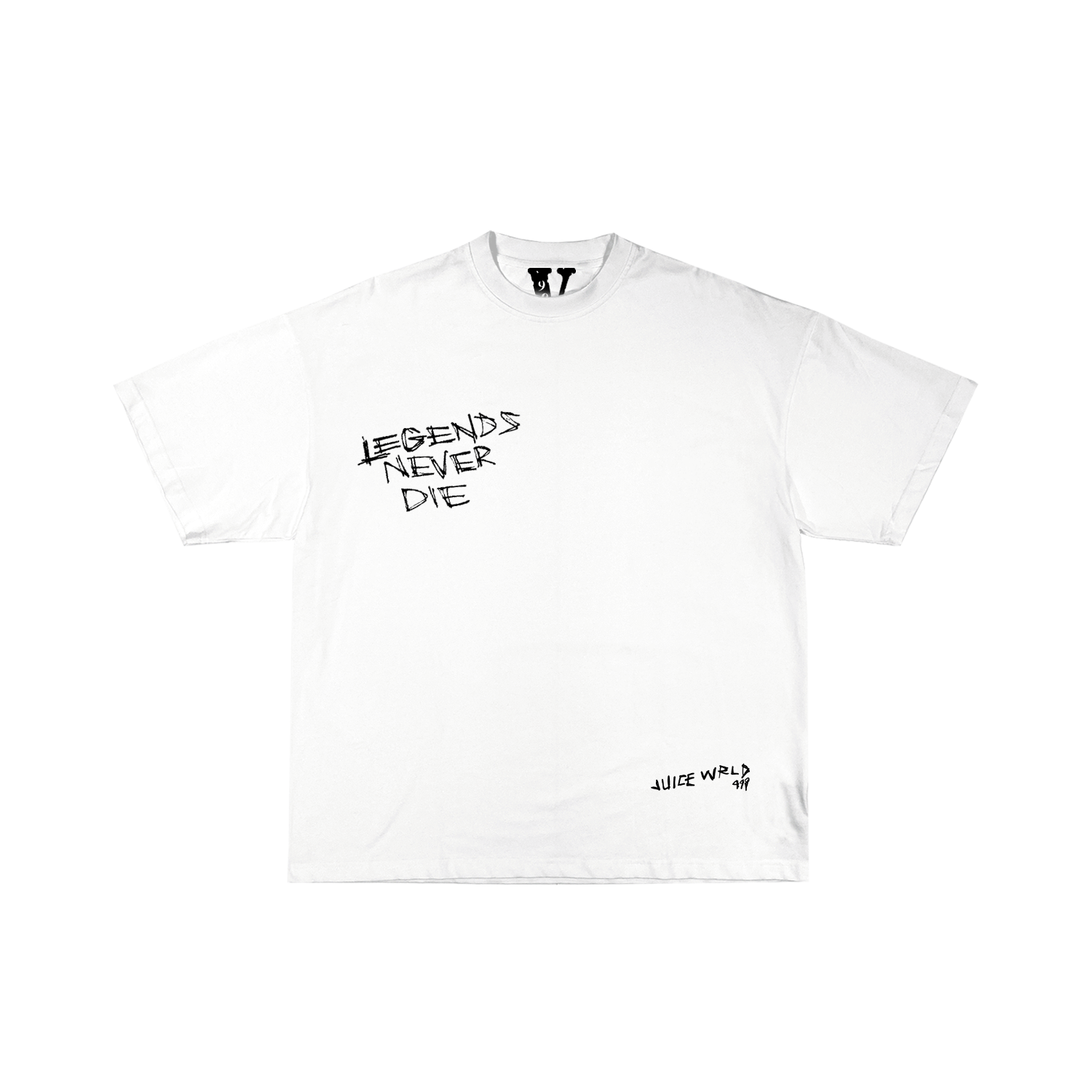 Juice WRLD X VLONE Legends Never Die Tee in White + Digital Album - JuiceWrld