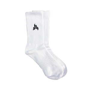 999 Embroidered Socks in White