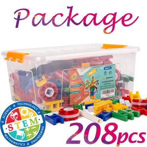b7cf00c6c107 ... 208 Pieces STEM Learning Toy Engineering Construction Building Blocks.  Previous  Next