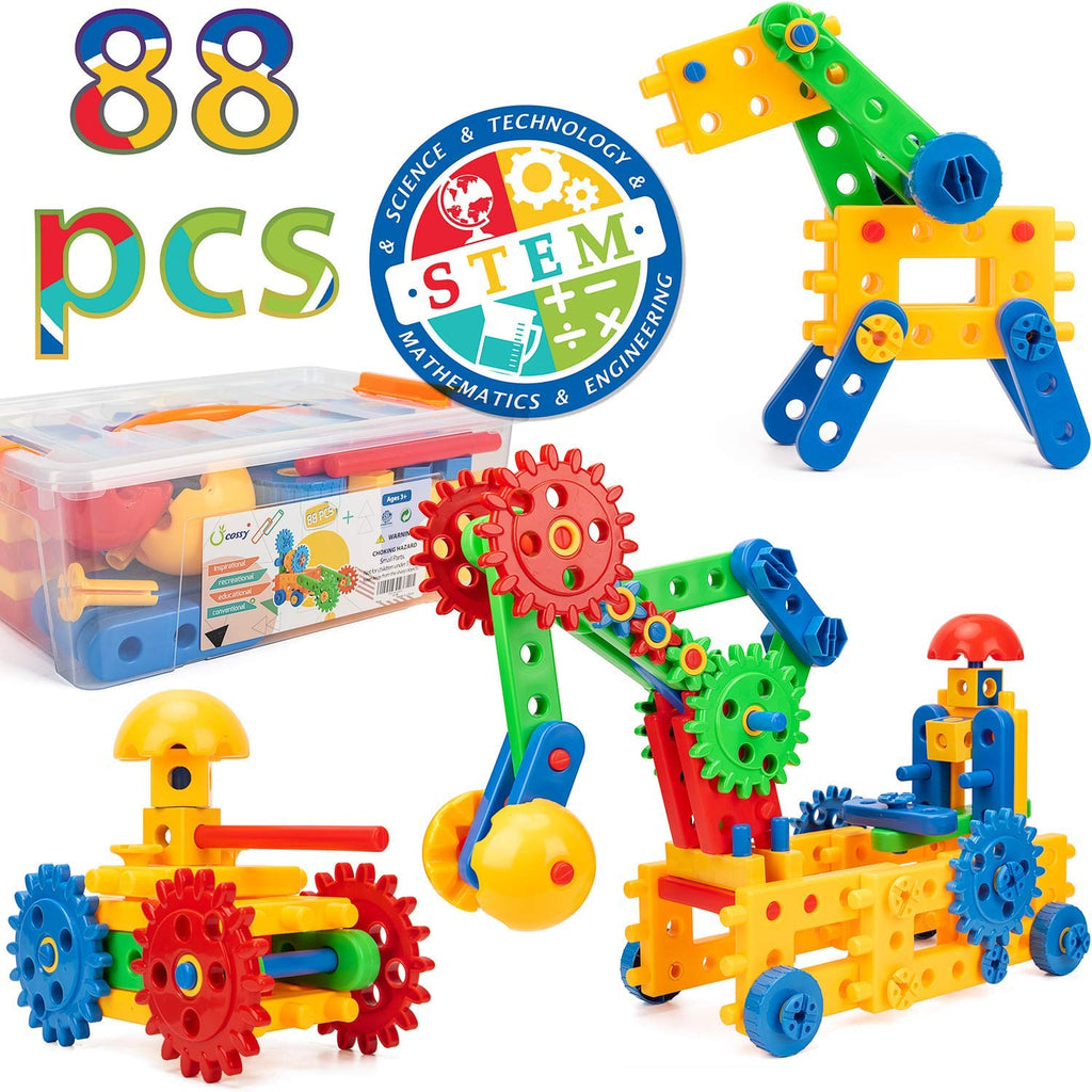 c78860bcc 208 Pieces STEM Learning Toy Engineering Construction Building ...
