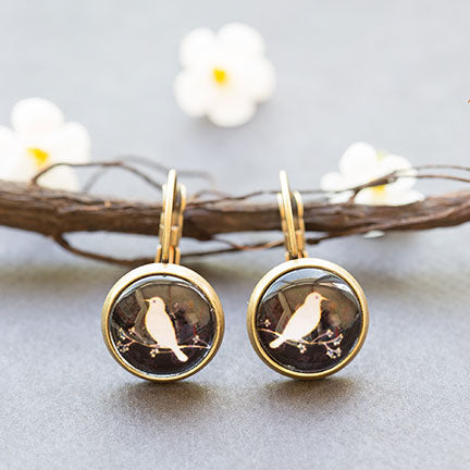 beijo brasil bird silhouette dangle earrings at jennymonkey