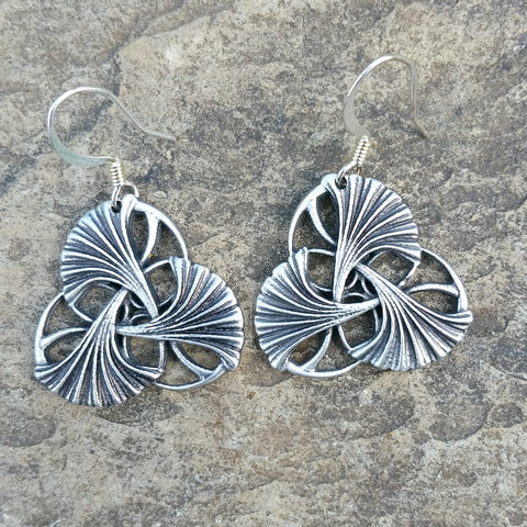 art nouveau pewter jewelry jennymonkey ginkgo leaves
