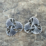 art nouveau ginkgo pewter earrings jennymonkey oberon design