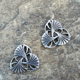 jennymonkey oberon design ginkgo pewter earrings art nouveau ginkgo