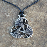 ginkgo leaf necklace on leather cord oberon design jennymonkey