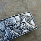 lady parade greek maenads celebrating pewter hair clip pb59 at jennymonkey