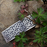 jennymonkey large celtic knot oberon design pewter hair clip in nature