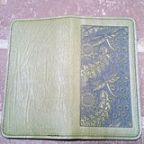 jennymonkey oberon design leather dandelion dragonfly checkbook cover holder