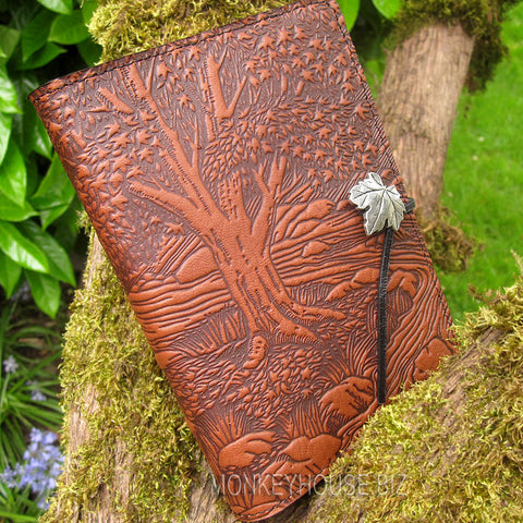 jennymonkey creek bed maple leather journal oberon design