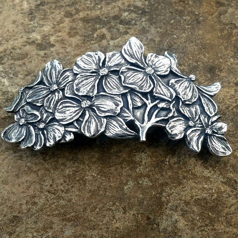 jennymonkey oberon design dogwood pb62 pewter hair clip