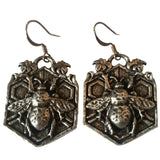 Bee Garden Hand Cast Pewter Earrings by Oberon Design