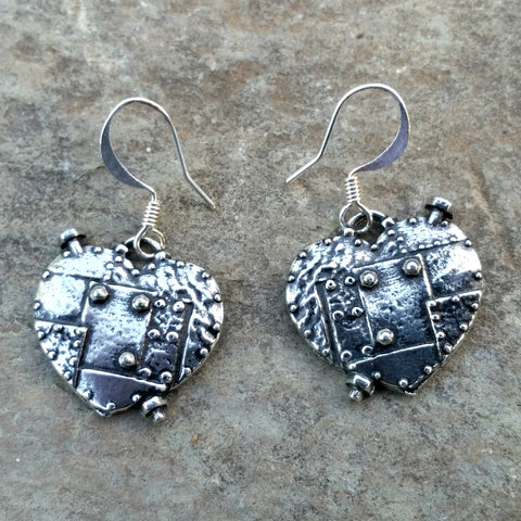 fearless heart steampunk earrings by Oberon design at JennyMonkey
