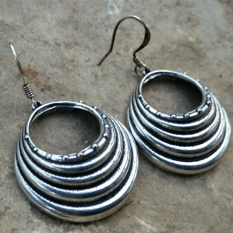 hill tribe pewter earrings by oberon design er47 jennymonkey