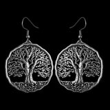 Tree of LIfe Hand Cast Pewter Earrings by Oberon Design