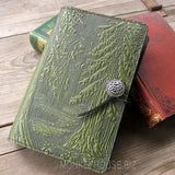 jennymonkey oberon design forest leather journal