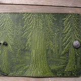 "Forest Small 5"" x 7"" Fern-Green Leather Journal by Oberon Design"