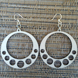 hanging circle laser cut wood earrings in natural 1064 green tree jewelry jennymonkey