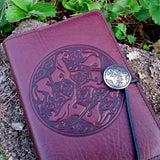 jsc08 jennymonkey small leather journal celtic horse oberon design