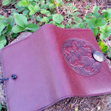 jennymonkey small leather journal celtic horse oberon design open