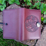 "Celtic Horse Wine Brown 5""x 7"" Small Leather Journal"