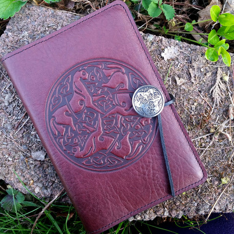 jennymonkey small leather journal celtic horse oberon design