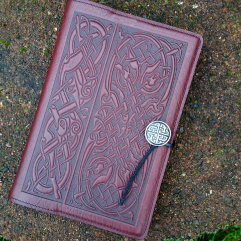 "Celtic Hounds Wine 6""x 9"" Large Leather Journal"