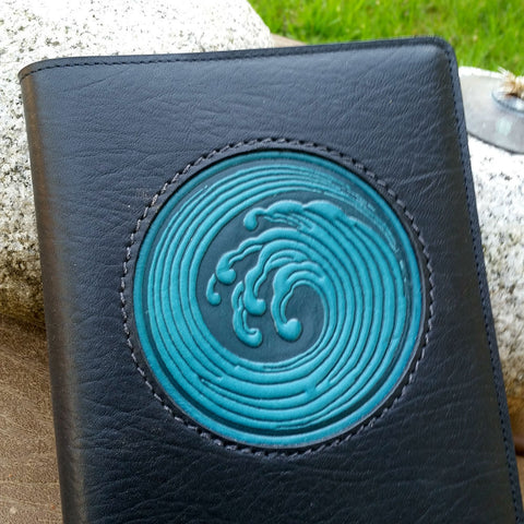 jennymonkey ocean wave leather journal oberon design leather