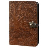 "Creek Bed Maple 6""x 9"" Large Saddle Brown Leather Journal by Oberon Design"