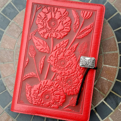 jennymonkey poppies oberon design leather journal