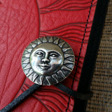 hand cast pewter sun button oberon design JLM07