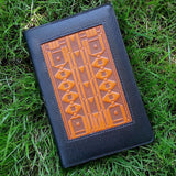 jennymonkey oberon design art deco large leather journal