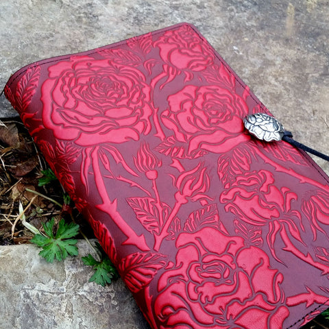 jennymonkey wild rose leather journal jsa15 jla15 oberon design