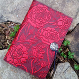 jennymonkey wild rose leather journal large jla15 oberon design