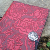 jennymonkey wild rose leather journal jsa15 jla15 oberon design angle view