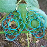 green tree jewelry long circle oblong laser cut wood earrings jennymonkey