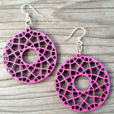 jennymonkey green tree jewelry flare laser cut wood earring 1516