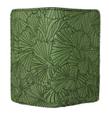 Ginkgo Leaves Fern Green Leather Checkbook Cover Holder