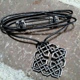 jennymonkey harmony knot oberon design pewter hair clip necklace pendant