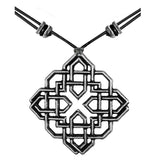 Harmony Knot Hand Cast Pewter Necklace on Leather by Oberon Design