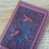jennymonkey chm10w hummingbird leather card older business credit card detail
